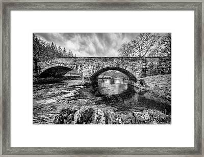 Bridge Over Llugwy Framed Print by Adrian Evans