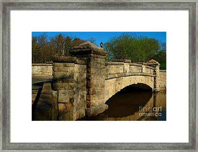 Bridge Over Not So Troubled Waters Framed Print by Bob Fromm