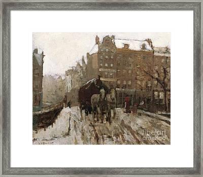 Bridge Over Singel Canal By The Paleisstraat Framed Print by Georg Hendrik Breitner