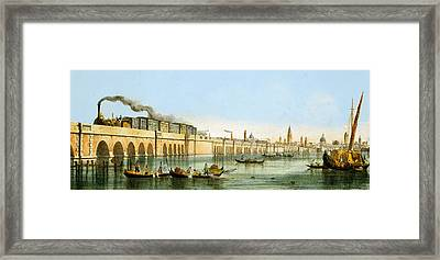 Bridge Over The Lagoon Framed Print by Giovanni Pividor