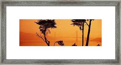 Bridge Over Water, Golden Gate Bridge Framed Print by Panoramic Images