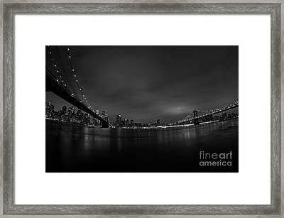 Bridge Skyline Framed Print by Mark Ayzenberg