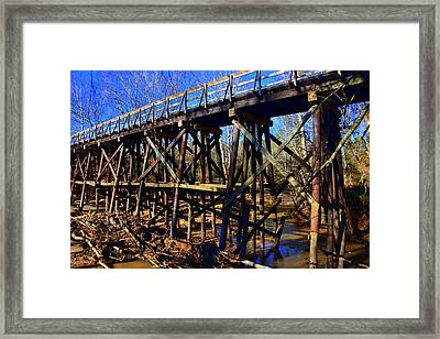 Bridge To Nowhere Framed Print by Lisa Wooten