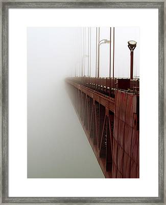 Bridge To Obscurity Framed Print by Bill Gallagher