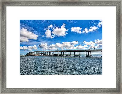 Bridge To South Padre Framed Print by Tod and Cynthia Grubbs