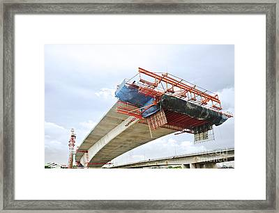 Bridge Under Construction Framed Print by Colin and Linda McKie