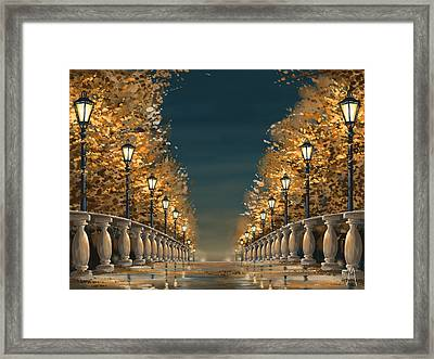 Bridge Framed Print by Veronica Minozzi