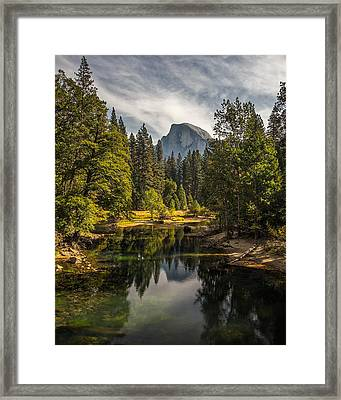 Bridge View Half Dome Framed Print by Peter Tellone