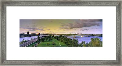 Bridges Across A River, Jacques Cartier Framed Print by Panoramic Images