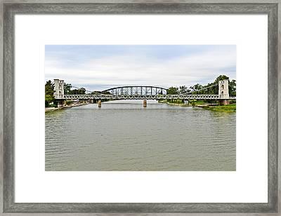 Bridges In Waco Tx Framed Print by Christine Till