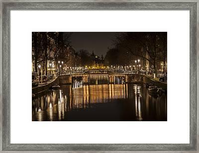 Bridges Of Amsterdam Framed Print by Shari Mattox