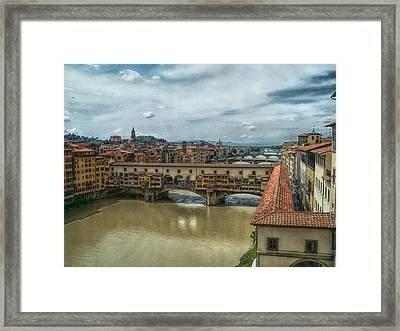Bridges Of Florence Framed Print by C H Apperson