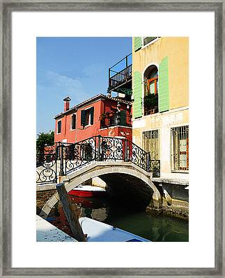 Bridges Of Venice Framed Print by Irina Sztukowski