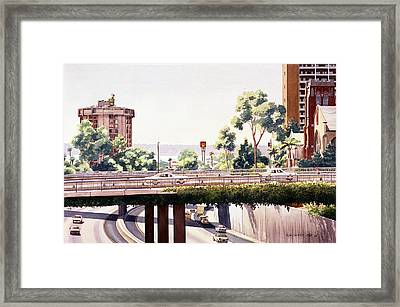 Bridges Over Rt 5 Downtown San Diego Framed Print by Mary Helmreich