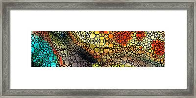 Bridging The Gap - Stone Rock'd Art Print Framed Print by Sharon Cummings