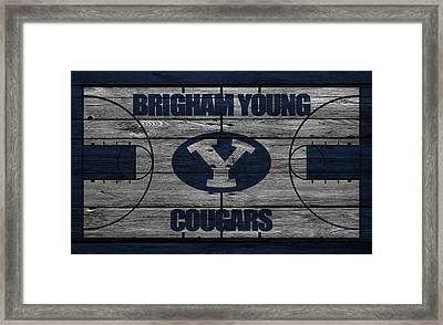 Brigham Young Cougars Framed Print by Joe Hamilton