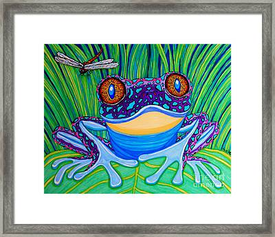 Bright Eyed Frog Framed Print by Nick Gustafson