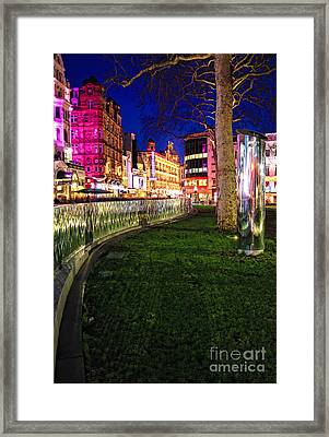 Bright Lights Of London Framed Print by Jasna Buncic