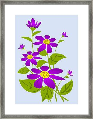 Bright Purple Framed Print by Anastasiya Malakhova