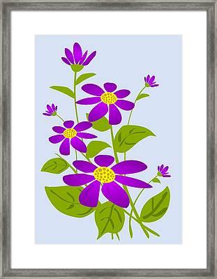 Bright Purple Framed Print by Anastasiya Malakhova