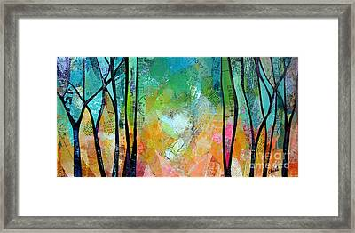 Bright Skies For Dark Days II Framed Print by Shadia Derbyshire