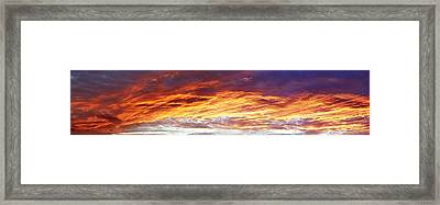 Bright Summer Sky Framed Print by Les Cunliffe