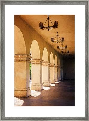 Bright Sun Cool Shade Balboa Park Framed Print by Joan Carroll