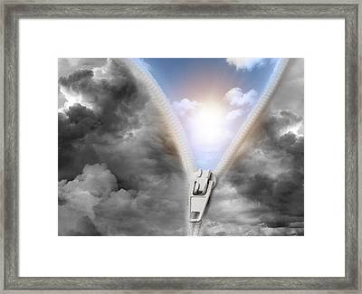 Brighter Future Framed Print by Les Cunliffe