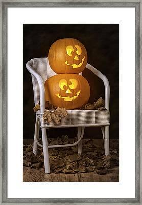 Brightly Lit Jack O Lanterns Framed Print by Amanda And Christopher Elwell
