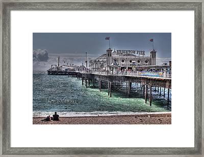 Brighton Pier Framed Print by Jasna Buncic