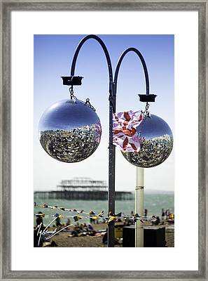 Brighton With Pride Framed Print by Max CALLENDER