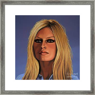 Brigitte Bardot Painting Framed Print by Paul Meijering