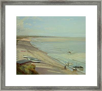 Bringing The Catch Ashore Framed Print by Timothy Easton