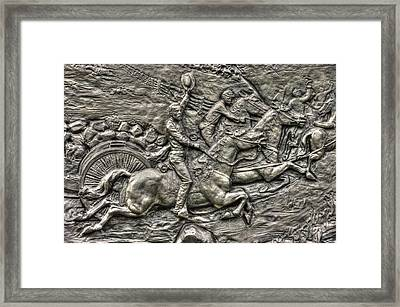 Bringing Up The Battery Detail-b 6th New York Independent Battery Horse Artillery Gettysburg Autumn Framed Print by Michael Mazaika