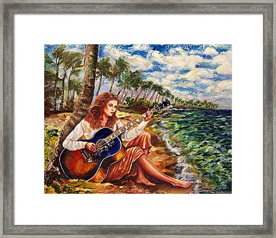 Briny Blues Framed Print by Yelena Rubin