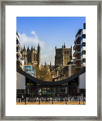 Bristol Cathederal Framed Print by Brian Roscorla