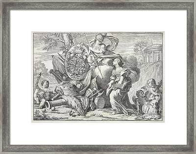 Britannia And Cherubs Framed Print by British Library