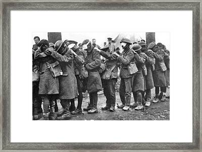 British 55th Division Gas Casualties Framed Print by Unknown