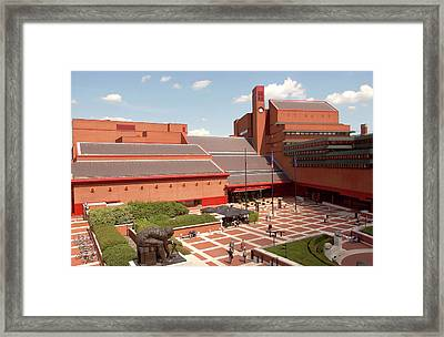British Library Piazza Framed Print by British Library