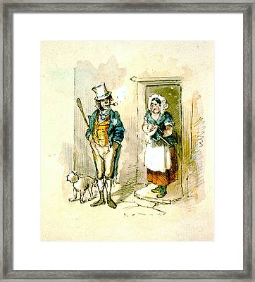 British Married Couple 1846 Framed Print by Padre Art