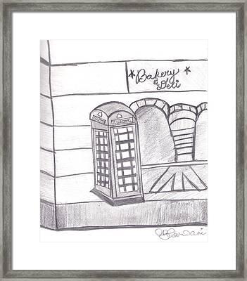 British Telephone Booth   Framed Print by Melissa Vijay Bharwani