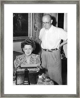 British Writer P. G. Wodehouse Framed Print by Underwood Archives