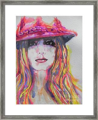 Britney Spears Framed Print by Chrisann Ellis