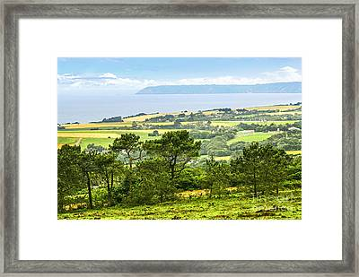 Brittany Landscape With Ocean View Framed Print by Elena Elisseeva