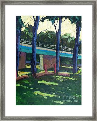 Broadway Bridge   Sold Framed Print by Charlie Spear