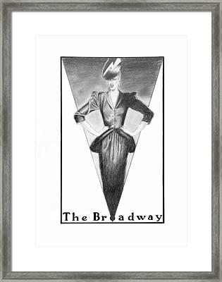 Broadway Dame Framed Print by Sarah Parks