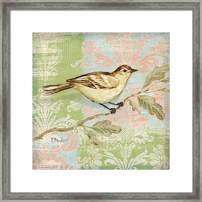 Brocade Songbird I Framed Print by Paul Brent