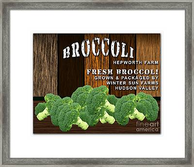 Broccoli Farm Framed Print by Marvin Blaine