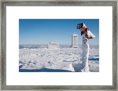 Brocken In Winter Framed Print by Andreas Levi