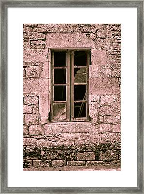 Broken And Empty Toned Framed Print by Georgia Fowler